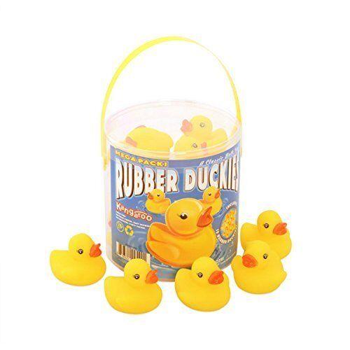 Rubber Ducky Baby Bath Toy Lot Bundle - 4 Buckets of 18 Ducks Each