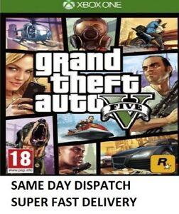 Grand-Theft-Auto-GTA-V-5-Five-XBOX-One-Game-MINT-Super-FAST-Delivery