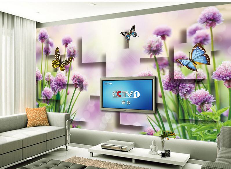 3D lila Butterfly 897 Wallpaper Mural Paper Wall Print Wallpaper Murals UK