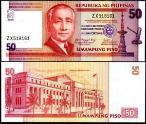 PHILIPPINES-50-PISO-PESO-2008-P-193-UNC-LOT-5-PCS