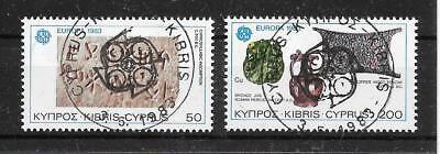 D177 Zypern/ Cept 1983 Minr 582/83 O Ersttagsstempel Europa Cept/europa Union & Mitläufer
