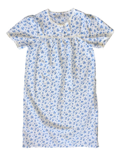 Women/'s classic floral woven short sleeve Nightdress four sizes 3 colours