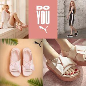 3d87d1534047 Image is loading PUMA-Authentic-Platform-Slide-Sandal-Women-Shoes-Pink-