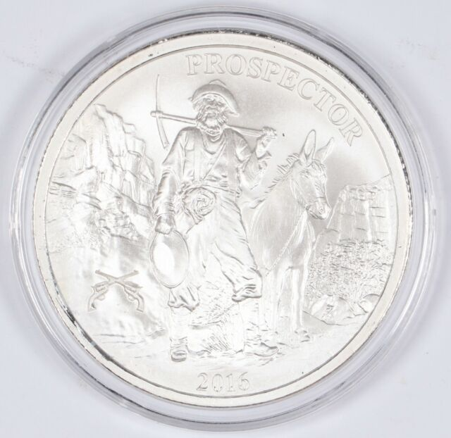 New Uncirculated 1-1 oz .999 Silver Round Provident Prospector