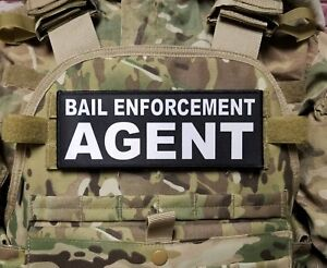 Details about BAIL ENFORCEMENT AGENT 3X8 Patch for Plate Carrier with Hook  Backing Bondsman