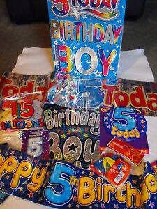 Image Is Loading BOYS 5TH BIRTHDAY PARTY DECORATIONS