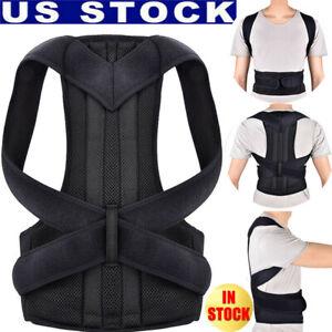 Men-Women-Posture-Corrector-Support-Shoulder-Back-Belt-Brace-Therapy-Strap-USA