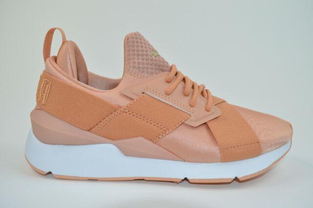PUMA Schuhe glänzende Damen Sneaker Muse Satin En Pointe Rosa