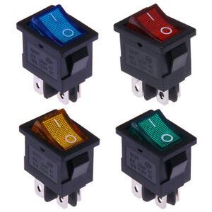 Wippschalter-12V-230V-Ein-Aus-21x15mm-Rot-Blau-Grun-Gelb-Beleuchtet-Kippschalter