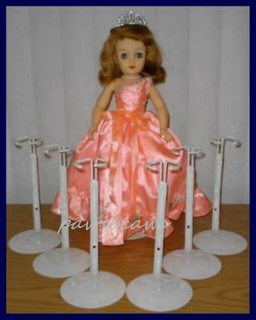 """Kaiser Doll Stand 2601 White Doll Stands for 14/"""" to 22/"""" Fashion Doll 6 PACK"""
