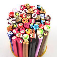 10 Animals Fimo Canes Rod Polymer Clay Nail Art Stick Sticker Decoration 3D