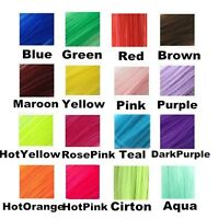 22 Hair Extensions Neon Clip In Long Synthetic Rainbow Highlight Cosplay Color