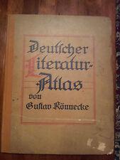 Deutscher Literatur Atlas by Gustav  Könnecke. Published 1909 Hard cover. Illu