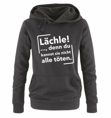 Damen HoodieNEW COOL TREND LÄCHLE !.. Comedy Shirts