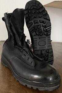Belleville Gore-Tex Boots Men's Black Leather Combat 700V- US 11 R Vibram Sole
