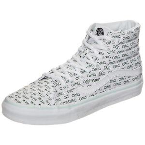7ca660892bcd3b VANS Sayings Sk8 Hi Slim OMG WTF Womens 11   Mens 9.5 Skate Shoes ...