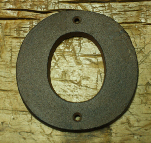 """Cast Iron Industrial LETTER O Sign Rustic Brown 5/"""" tall Alphabet"""