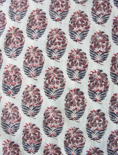 A Anokhi Manica 4 Mano Cotton Tunica E Bianco Rosso 3 Stampato 100 xqBqOf1w0