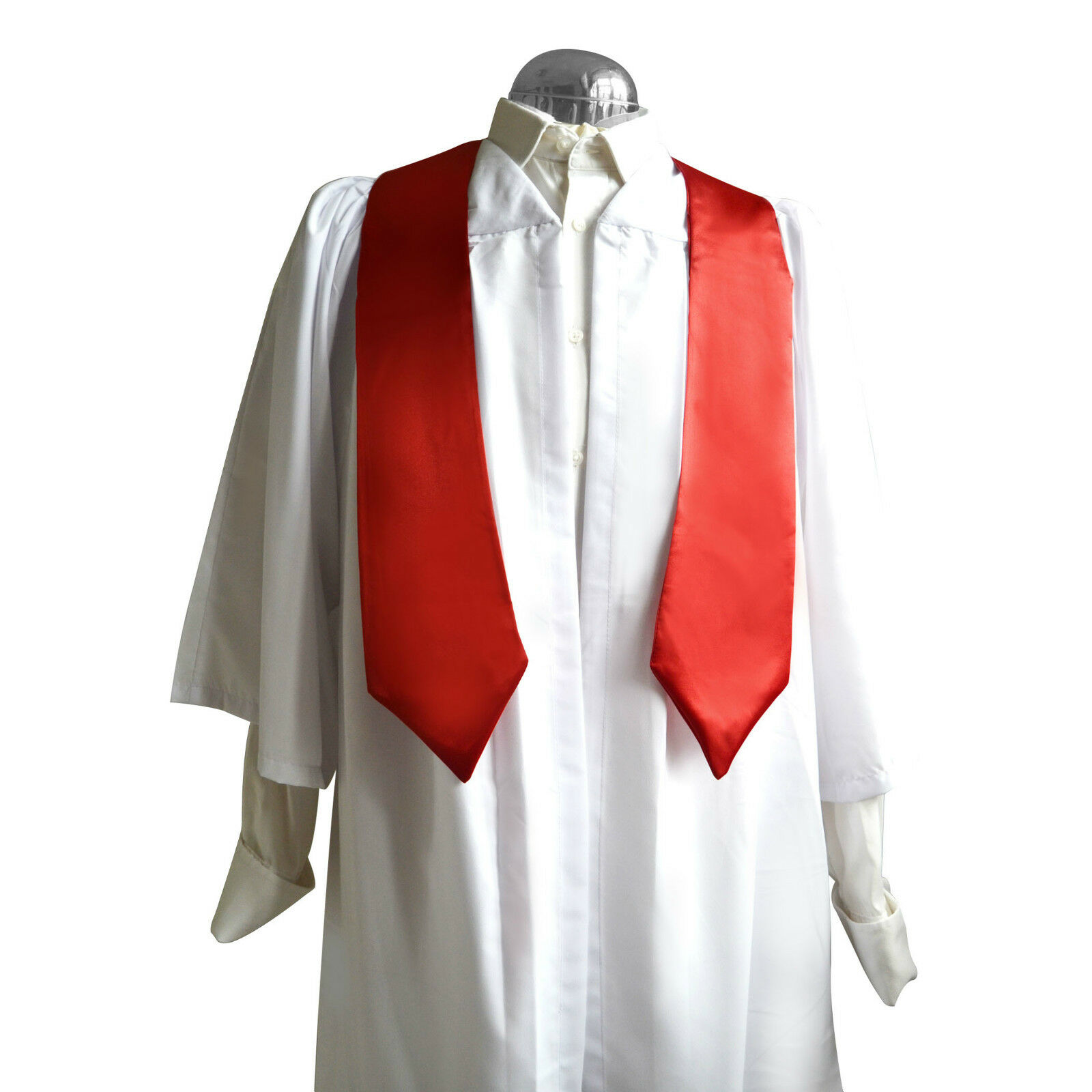 Lot rubans/étoles de 10 blanc choir robes/robes et rubans/étoles Lot femmes/hommes église graduation 1cc71a