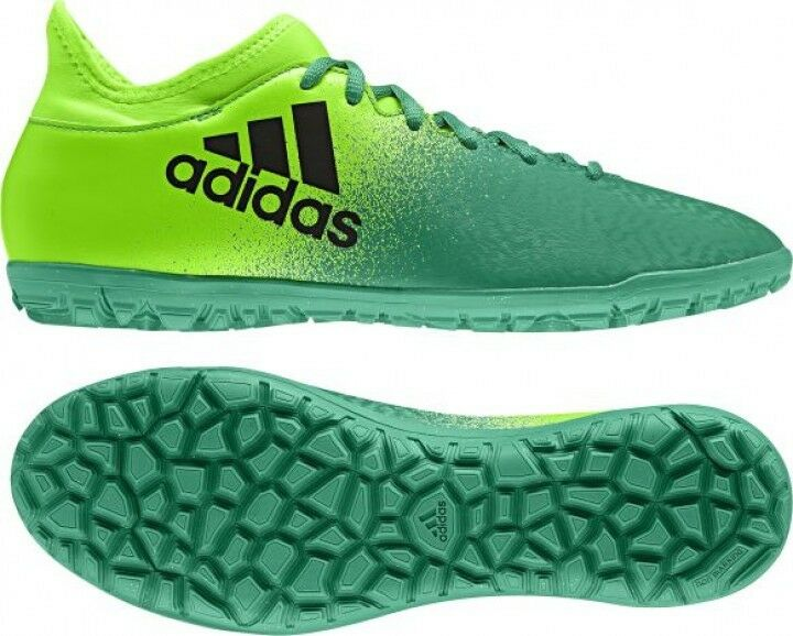 Adidas hommes TF TechFit X 16.3 Soccer Football Turf Shoes Bottes