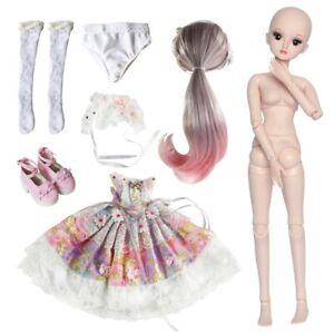 1-3-Kugelgelenk-Maedchen-60cm-BJD-Puppe-Doll-Mit-Full-Set-Kleidung-Outfit-Puppen