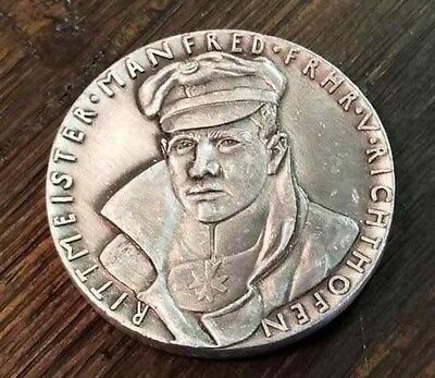 Death of RED BARON German Karl Goetz Medal Medallion Captain Manfred Richthofen