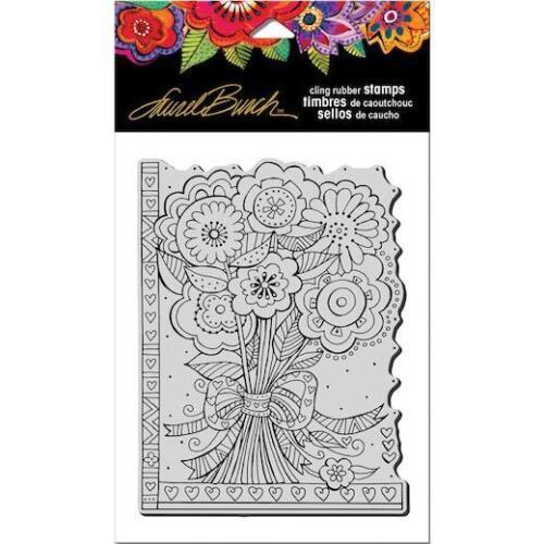 Flower Bouquet LBCR007 Stampendous Laurel Burch Cling Stamp