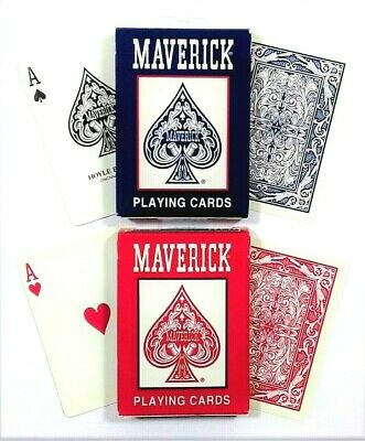 2 DECKS OF MAVERICK PLAYING CARDS COMES IN RED /& BLUE PACK BRAND NEW PLASTIC