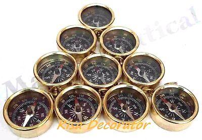 Brass Nautical Pocket Compass 45 mm Lot Of 25 Pcs Marine Collectible Decorative