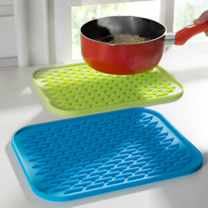Heat Resistant Silicone Table Mat Placemat Non-slip Pan Pot Holder Kitchen Tools