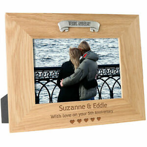 5th-Wooden-Wedding-Anniversary-Gift-Engraved-Oak-Photo-Frame-Wood-5-Year-Gifts