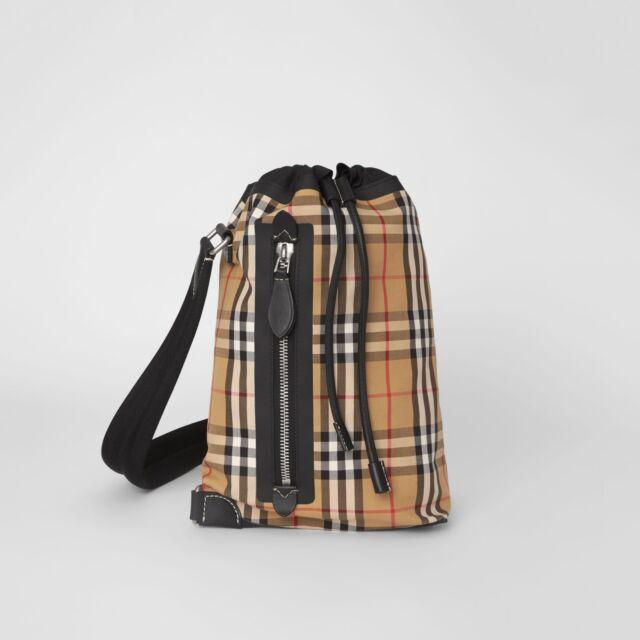 Burberry Vintage Check Duffle Bag Yellow   eBay 2be16b6c0e