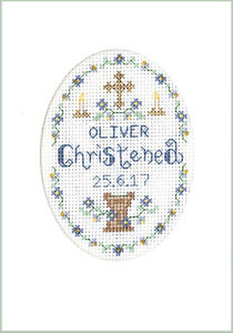 Easter Cross card a complete cross stitch card kit on 16 aida /& COLOUR chart