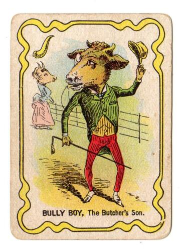 1897 BULLY BOYTHE BUTCHER'S SONDR BUSBY'S GAME CARD