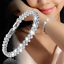 925-Sterling-Silver-Women-Crystal-Beads-Wristband-Chain-Bangle-Cuff-Bracelet thumbnail 12