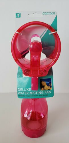 Parents Sideline Spray Bottle Cooling PINK O2Cool Deluxe Water Misting Fan