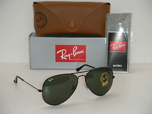 ray ban rb3026 metal green mirror glass  image is loading ray ban 3026 aviator black frame rb 3026