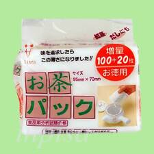 EMPTY TEA BAG 2 x 120pcs DISPOSABLE BAGS for LOOSE LEAF TEA  MADE IN JAPAN