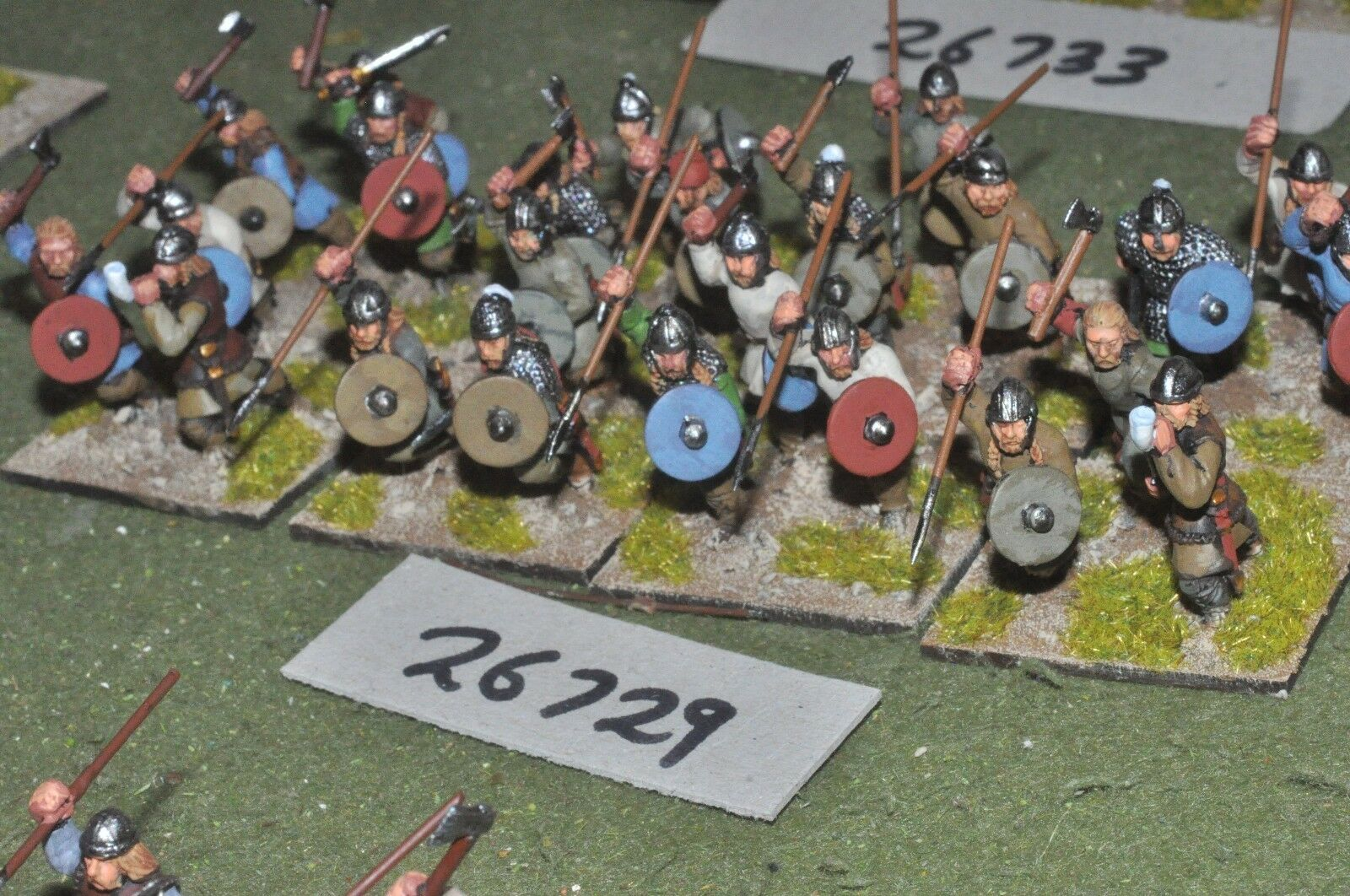 25mm roman era   early frank - warband 24 figures - inf (26729)