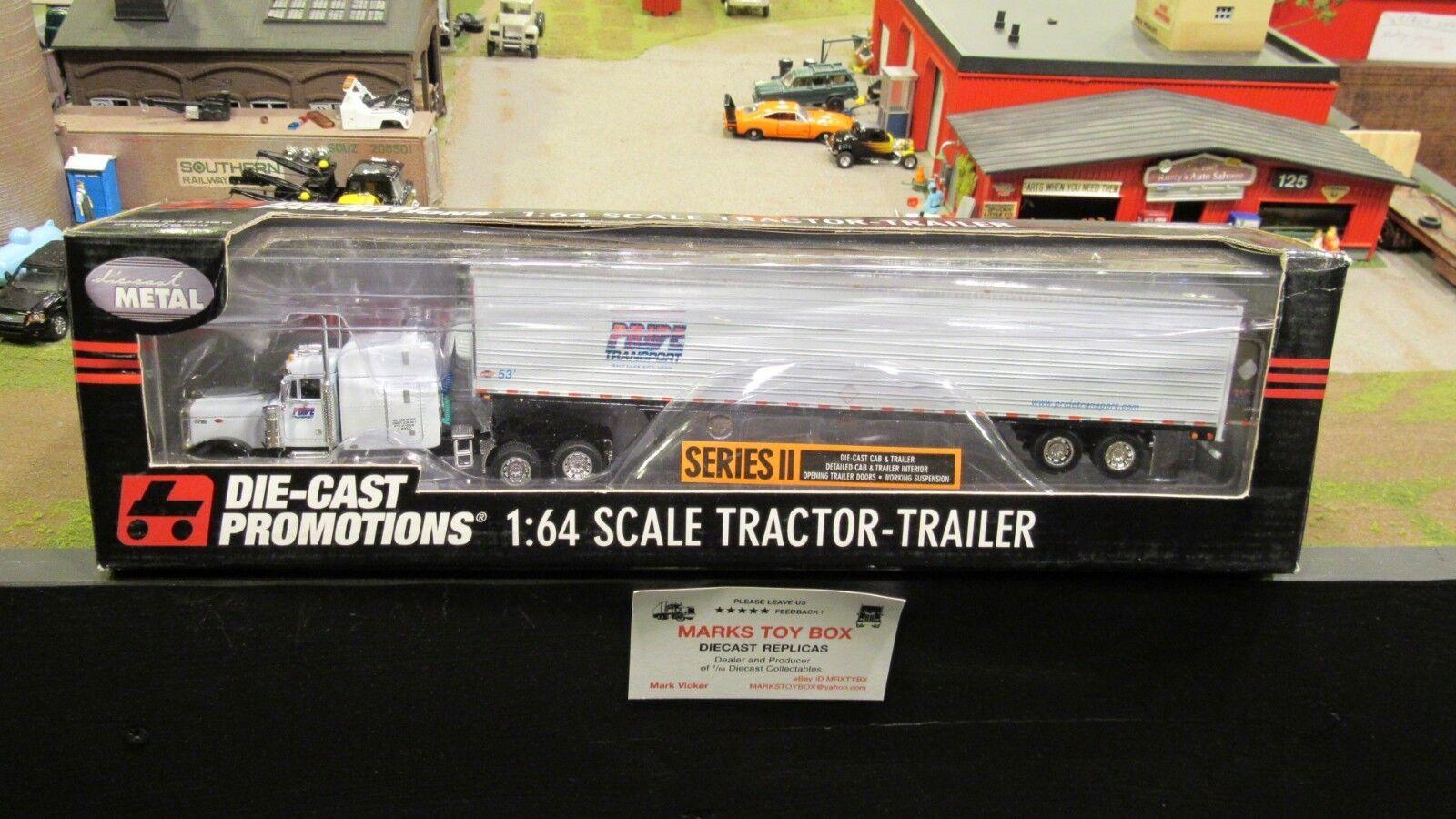 DCPorgullo transporte Pete 379 semi camión Reefer Van Trailer 1 64