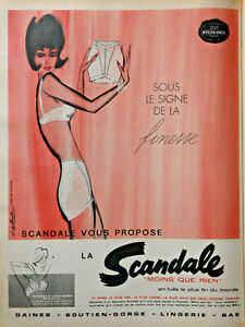 Infatigable PublicitÉ De Presse 1961 Gaine Scandale Finesse En Tulle Le Plus Fin Du Monde