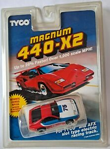 Tyco-440-X2-Nissan-300ZX-Red-White-Blue-75-HO-Slot-Car-DISCONTINUED-NOS-AFX