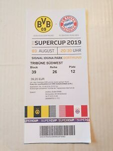 Used Sammler Ticket DFB Supercup Final 2019 BVB Borussia Dortmund Bayern München