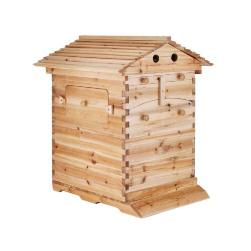 Auto Flow Beehive Box Bee Hives 7 Langstroth Wooden Honey Beekeeping Hive Boxes