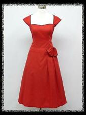 dress190 PLUS SIZE RED CAP SLEEVE 50s ROCKABILLY PIN-UP VINTAGE PARTY DRESS 18