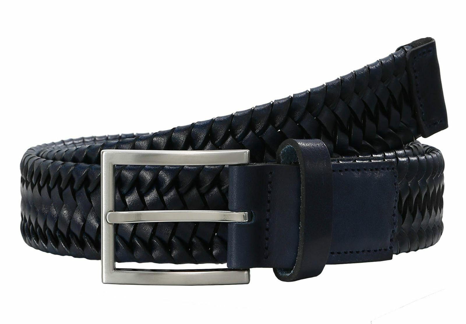 LLOYD Braided Men´s Belt W90 Gürtel Accessoire Marine Blau