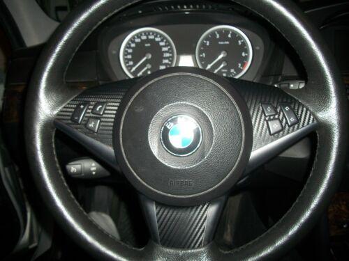 BMW 550i CARBON FIBER STEERING WHEEL KIT 2 FOR 1 SALE $8.99 FAST WWD AIRMAIL