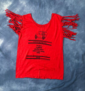 Vtg Motor Cars And Parts Fringe Shirt Local Business Tee T Shirt Classic Cars Ebay