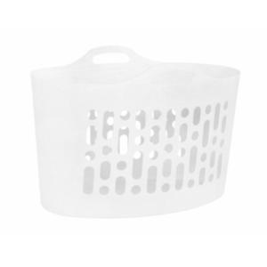 Flexi boutique en Plastique Pliable Panier à Linge Blanc Laver Chiffon stockage 50LTR UK