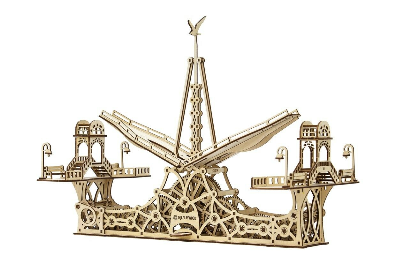 Ponte pedonale-Mr Playwood 3 D KIT IN LEGNO MODELLO IN LEGNO KIT PUZZLE IN LEGNO